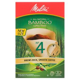 Melitta All Natural Bamboo Coffee Filters No.4 Cone Filters - 25pk.
