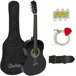 Bridgecraft Acoustic Guitar with Accessories - Black