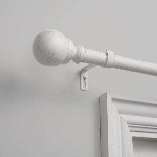 Exclusive Home Sphere Curtain Rod and Finial Set - 36in. - 72in.