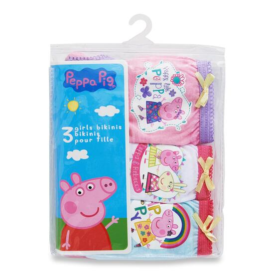 Girls Licensed Peppa Pig Briefs 3pk. - 2-6X