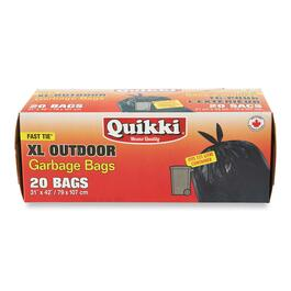 Quikki Extra Large Outdoor Garbage Bags - 20 pk.