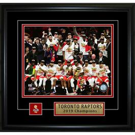 Toronto Raptors 2019 Team Celebration Framed Photo - 8in. x 10in.