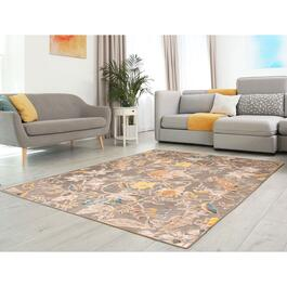 eCarpetGallery Lotus Grey Viscose Area Rug