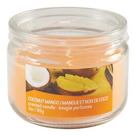 Coconut Mango Scented Jar Candle - 3oz.