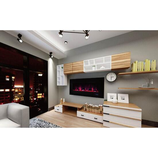 Paramount Mirage Wall Mount with Multi-Colour Flames - 42in.