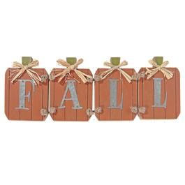 IH Casadecor Fall Pumpkin with Raffia Sign