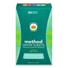 Method Dryer Sheets, Beach Sage - 80 sheets