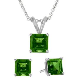 Signature Elite Emerald Pendant Necklace and Earring Set