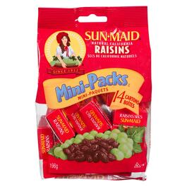 Sun-Maid Natural California Raisins 14pk. - 196g