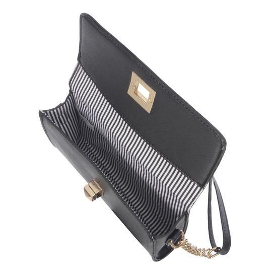 NICCI Black Small Crossbody Bag with Turnlock