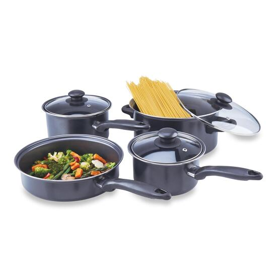 Proctor Silex Black Non-Stick Cookware Set - 7pc.