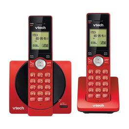 VTech 2-Handset DECT 6.0 Cordless Phones with Caller ID/Call Waiting - Red