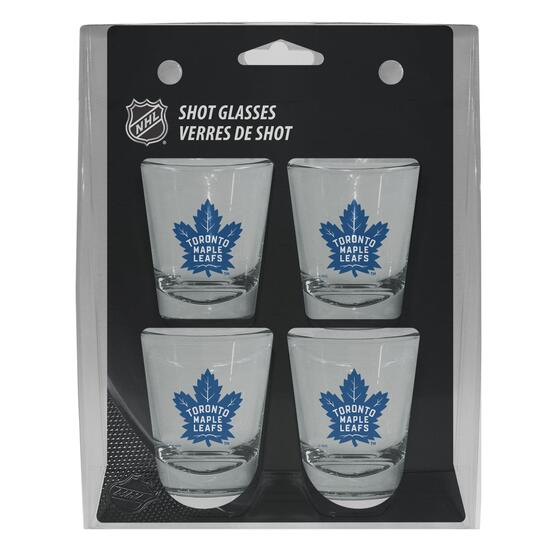 NHL Toronto Maple Leafs Shot Glass Gift Set - 4pk.