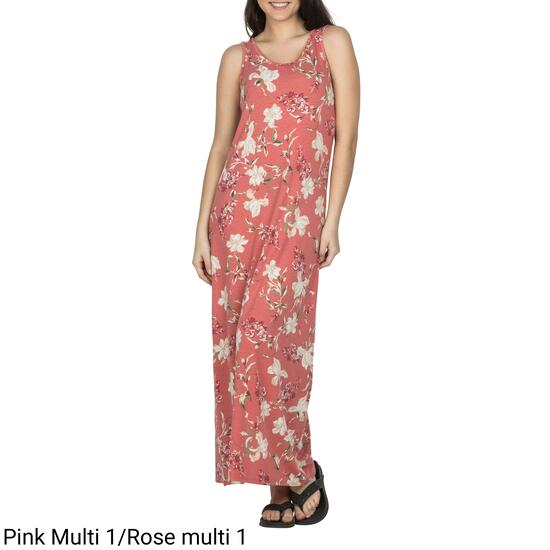 lily morgan Women's Printed Cross-Back Maxi Dress - S-XL