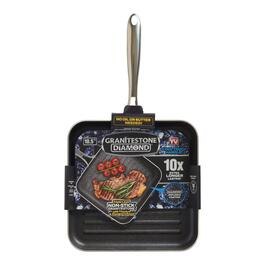 As Seen on TV Granite Stone Diamond Non-Stick Triple-Coated Grill Pan -10.5in.