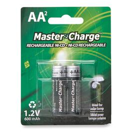Master Charge Rechargeable NI-CD AA2 Batteries - 2pk.