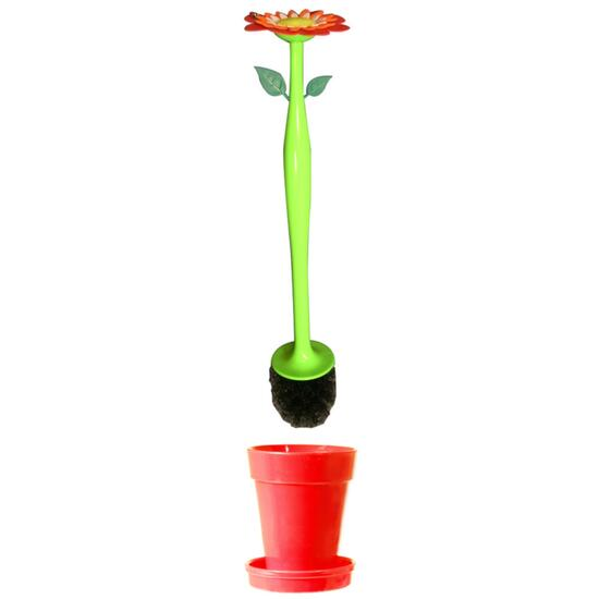 Toilet Brush Set with Scented Flower Refill