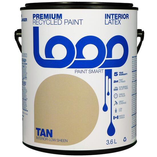 Loop Tan Interior Latex Premium Recycled Paint - 3.8L