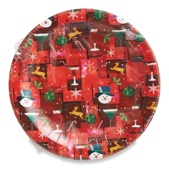 Christmas Paper Plates 22.8cm (9in) - 20 pk.