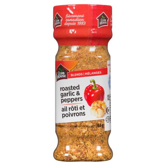 Club House One Step Blends Roasted Garlic and Peppers Seasoning - 144 g