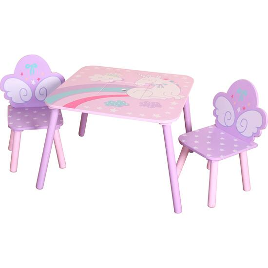 Unicorn Square Table with 2 Chairs and Storage Bag