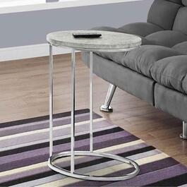 Monarch Specialties Oval Accent Table - Grey Cement