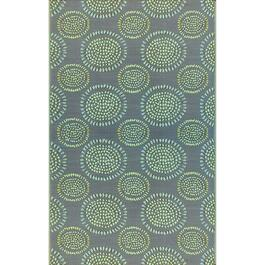 Mad Mats Molly Indoor/Outdoor Carpet - Black/Aqua