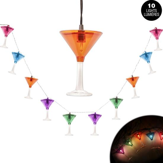 Cocktail Glass String Lights - 24in.