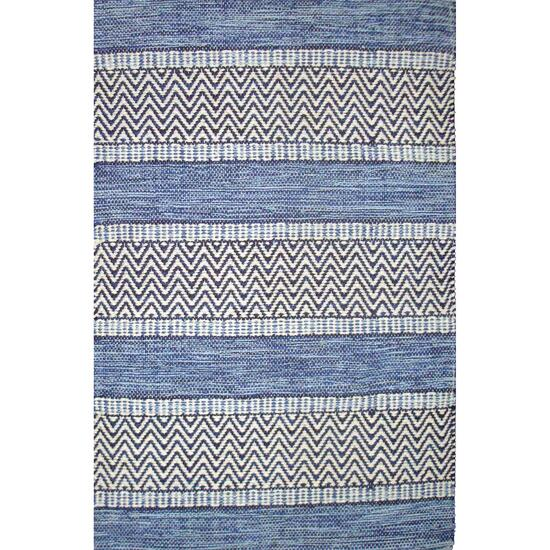 Avocado Décor Blue Dhurrie Largo Rug - 6.6ft. x 9.2ft.