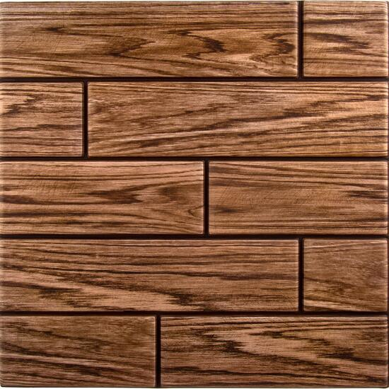 Truu Design 3D Walnut Woodgrain Wall Tiles - 6pk.