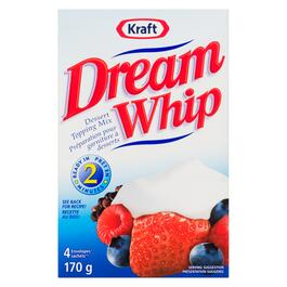 Kraft Dream Whip Dessert Topping Mix 4pk. - 170g