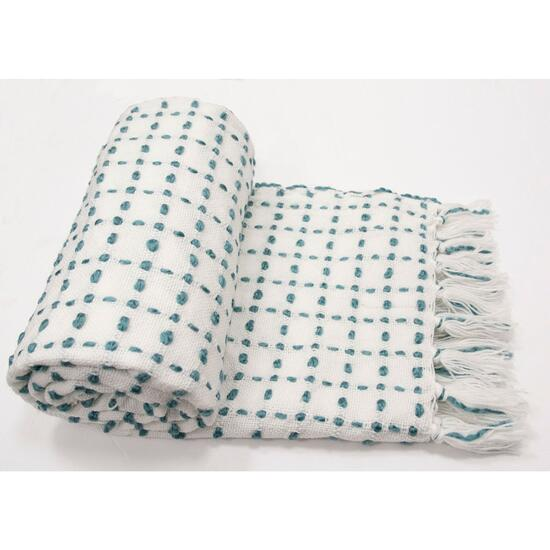 Cantanhede Green Throw - 60in.