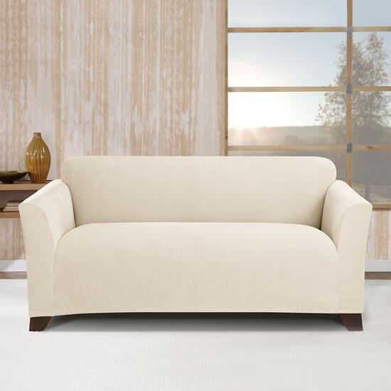 Surefit Stretch Morgan Ivory Slipcover for Loveseat - 1pc.