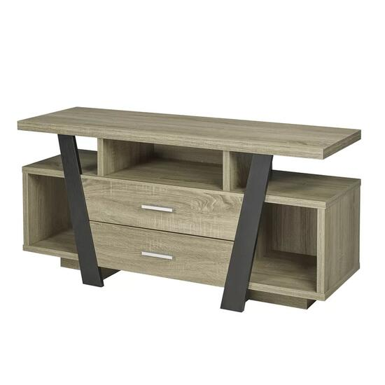 Brassex Dark Taupe TV Stand with Storage - 47in.
