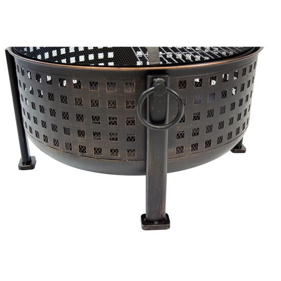 Pleasant Hearth Langston Deep Bowl Fire Pit - 12 in.