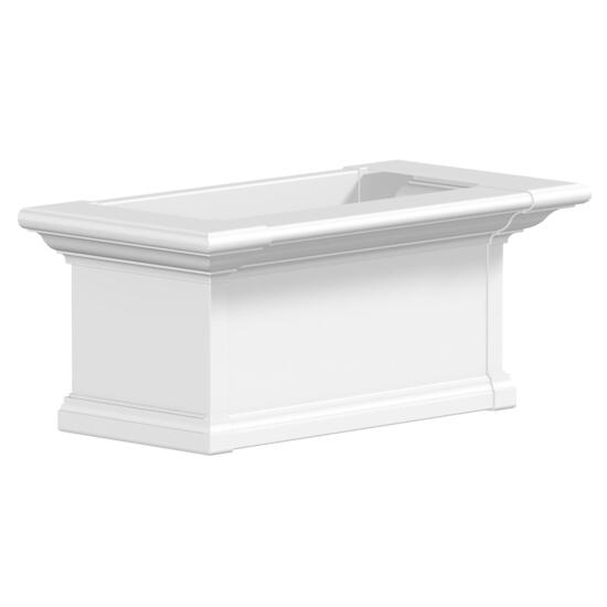 Mayne Yorkshire White Window Box - 2ft.