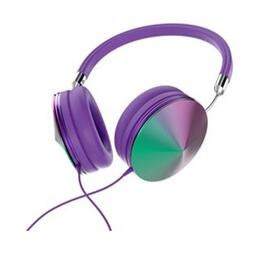 Art & Sound Iridescent Headphones with Mic -  Purple