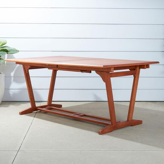 Vifah Malibu Outdoor Extension Table with Foldable Butterfly - 67in. - 91in.