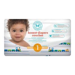 The Honest Company Trains Patterned Diapers Size 1 - 176pk.