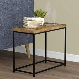 Safdie & Co. Brown Reclaimed Wood Accent Table Rectangle