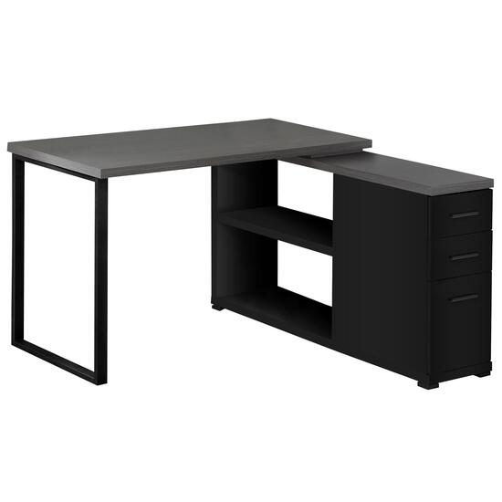 Monarch Specialties Black/Grey Computer Desk with Drawers