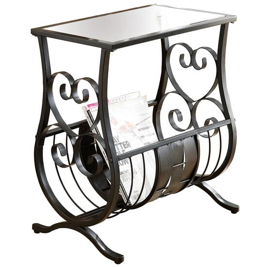 Monarch Specialties Inc. Black Magazine Table