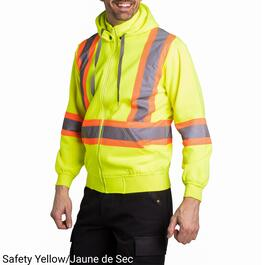 Tradesmax Pro Men's High Visibility Yellow Fleece Hoodie - S-XXL