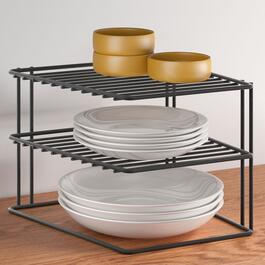Metaltex 2 Tier Palio Lava Corner Shelf