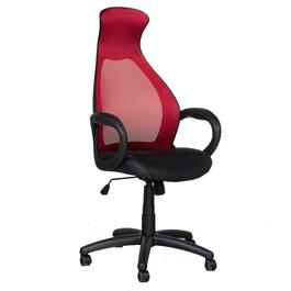 Brassex Red Adjustable Office Chair with Gas Lift