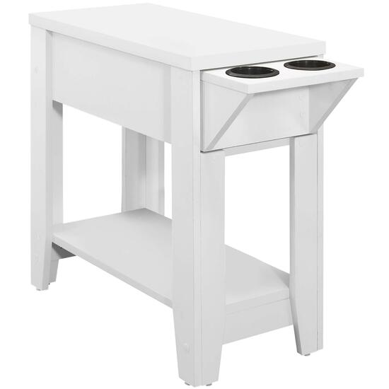 Monarch Specialties  Accent Table with Glass Holder  - 24in.