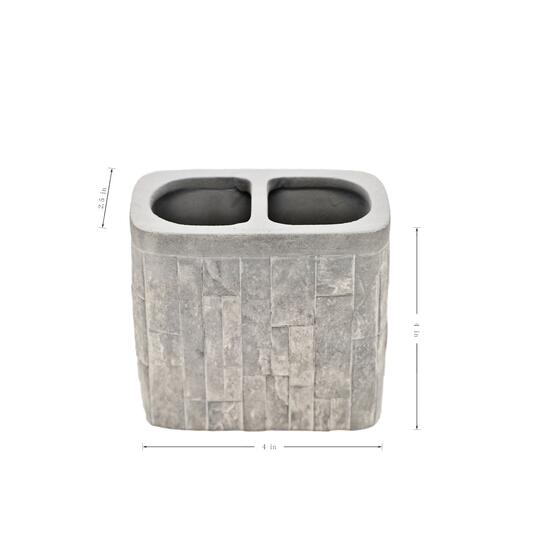 Marina Decoration Winston Brick Concrete Bath Set - 4pc.