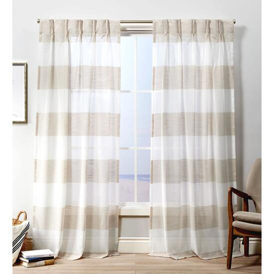 Exclusive Home Darma Sheer Pinch Pleat Curtain Panel 2pc. - 108in.