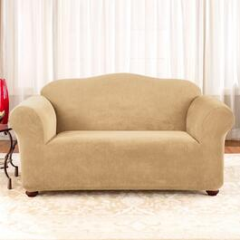Surefit Stretch Piqué Cream Slipcover for Loveseat - 1pc.