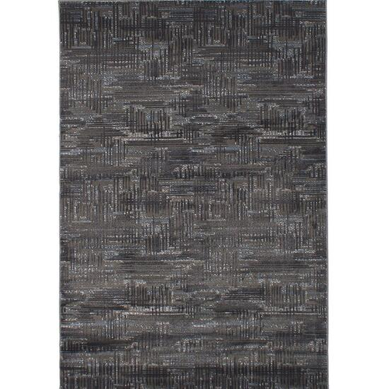 eCarpetGallery Chateau Dark Grey Polypropylene Rug - 5.5ft.x7.10ft.